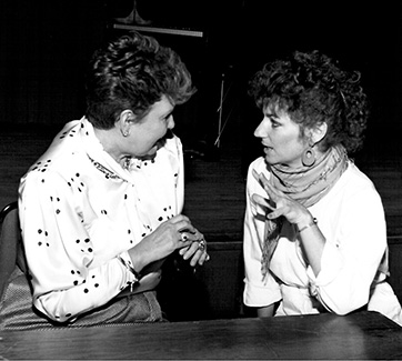 Clarice Carson mentors singer. 1993