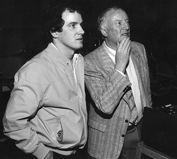 Norman Campbell, Film Director CBC Television, with a student