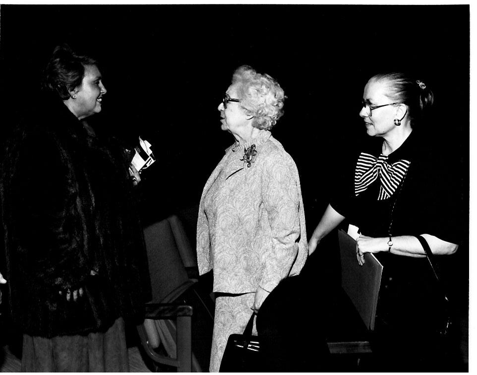 Clarice Carson, Dame Eva Turner, Ann Summers. 1986