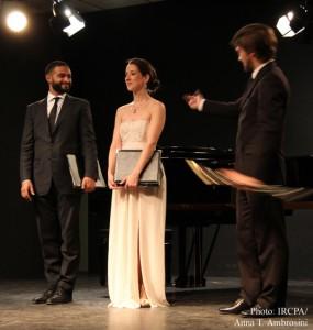Jana Miller, Kornel Wolak and Jordan de Souza in performance